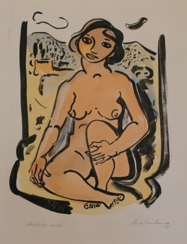 "<h4 style=""margin:0px 0px 5px 0px"">Ardeche nude</h4>Medium: Lithograph<br />Price: $1,000 