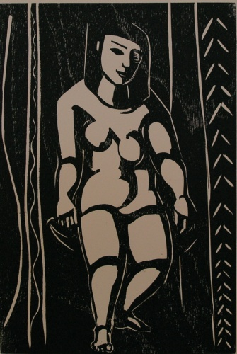 "<h4 style=""margin:0px 0px 5px 0px"">Aztec nude</h4>Medium: Woodcut<br />Price: $1,800 
