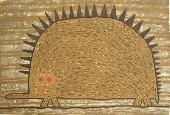 "<h4 style=""margin:0px 0px 5px 0px;"">Echidna</h4>Medium: Etching<br />Price: $2,000 <span style=""color:#aaa"">