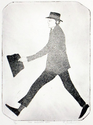 "<h4 style=""margin:0px 0px 5px 0px"">The Business Man</h4>Medium: Etching<br />Price: Currently Unavailable 
