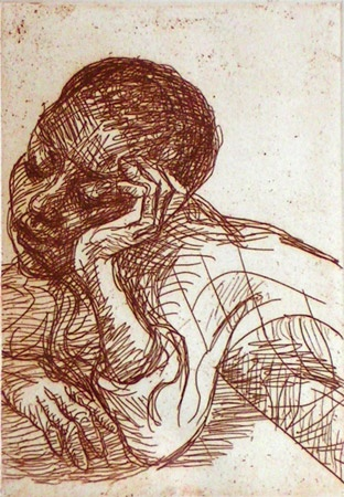"Omu<br /><br />Medium: Etching<br />Price: Sold<br /><a href=""Artwork-Friend-Omu-1353.htm"">View full artwork details</a>"