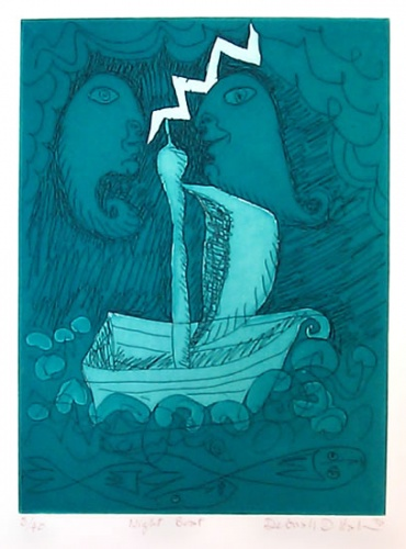 "<h4 style=""margin:0px 0px 5px 0px"">Night Boat</h4>Medium: Etching<br />Price: $400 