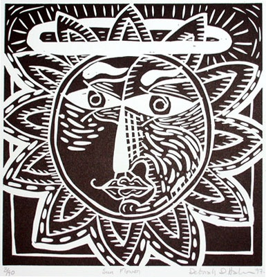 "<h4 style=""margin:0px 0px 5px 0px"">Sun Flower</h4>Medium: Linocut<br />Price: $450 
