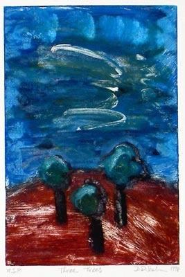 "<h4 style=""margin:0px 0px 5px 0px"">Three Trees</h4>Medium: Monoprint<br />Price: $600 