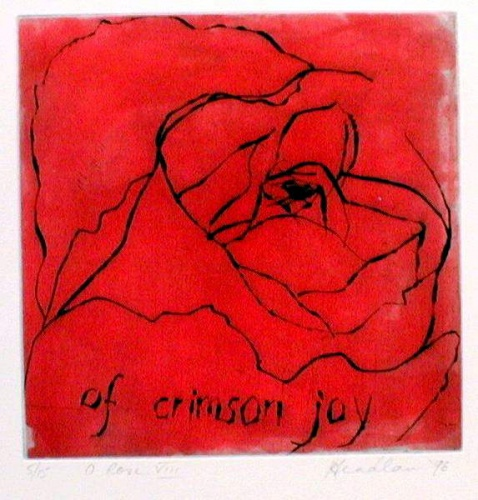 "<h4 style=""margin:0px 0px 5px 0px"">O Rose 8</h4>Medium: Etching & drypoint<br />Price: $ Price On Application 