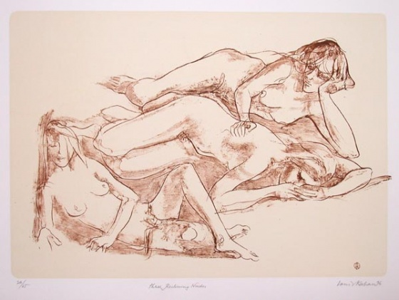 "Three Reclining Nudes<br /><br />Medium: Lithograph<br />Price: $770<br /><a href=""Artwork-Kahan-ThreeRecliningNudes-273.htm"">View full artwork details</a>"
