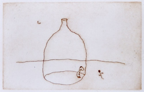 "<h4 style=""margin:0px 0px 5px 0px"">Bottle and flower</h4>Medium: Etching<br />Price: Currently Unavailable 