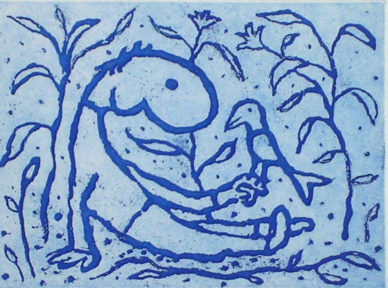 "<h4 style=""margin:0px 0px 5px 0px;"">Boy with a bird (blue)</h4>Medium: Etching<br />Price: Currently Unavailable <span style=""color:#aaa"">