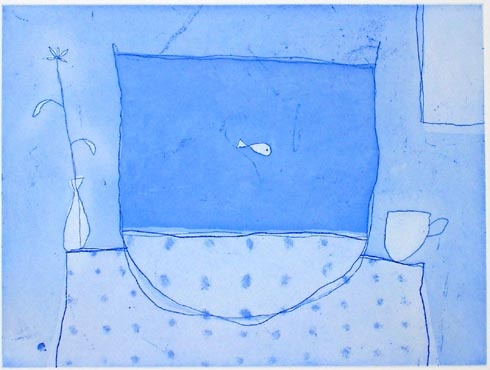 "little fish<br /><br />Medium: Etching<br />Price: $1,500<br /><a href=""Artwork-Leunig-littlefish-723.htm"">View full artwork details</a>"