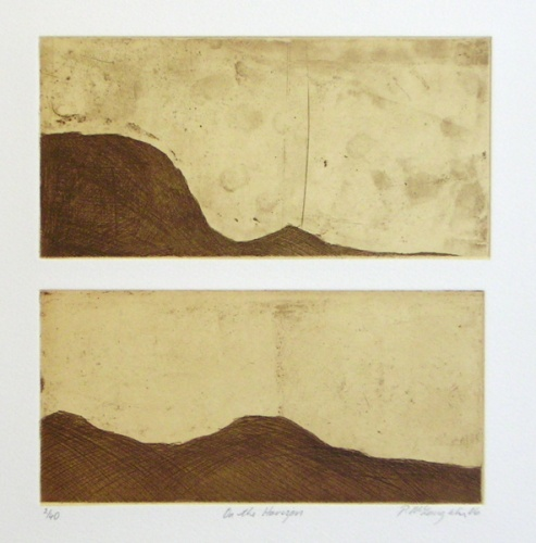 "<h4 style=""margin:0px 0px 5px 0px;"">On the Horizon</h4>Medium: Etching/Chine Colle (Diptych)<br />Price: $240 <span style=""color:#aaa"">