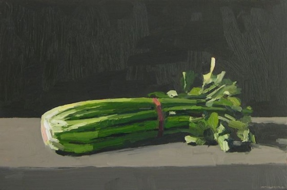 "<h4 style=""margin:0px 0px 5px 0px"">Celery Bunch</h4>Medium: Oil on linen<br />Price: $2,700 