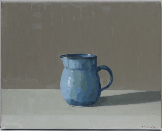 "<h4 style=""margin:0px 0px 5px 0px"">Blue Jug, light by David Moore</h4>Medium: Oil on linen<br />Price: Sold<span class=""helptip"" style=""color:#ff0000;"" title=""This artwork been sold""><img src=""/images/reddot1.gif"" border=""0"" height=""10"" /></span> 