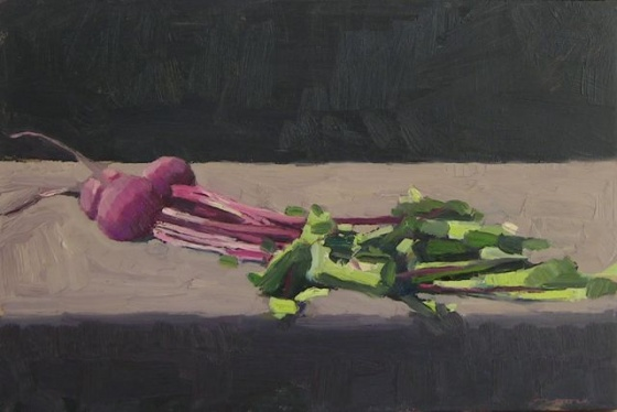 "<h4 style=""margin:0px 0px 5px 0px"">Bunch of Beets by David Moore</h4>Medium: Oil on linen<br />Price: $2,700 