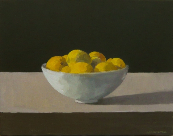 "<h4 style=""margin:0px 0px 5px 0px"">Lemons in a bowl by David Moore</h4>Medium: Oil on linen framed<br />Price: $1,800 
