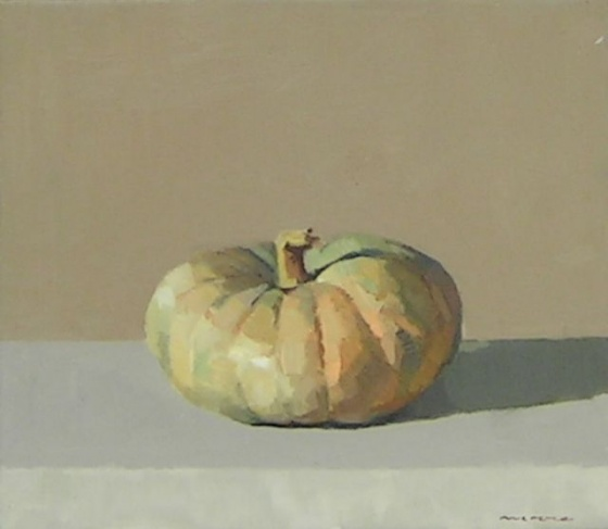 "<h4 style=""margin:0px 0px 5px 0px"">Pumpkin #6 by David Moore</h4>Medium: Oil on linen<br />Price: $1,700 