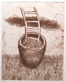 "<h4 style=""margin:0px 0px 5px 0px;"">The gardeners little hope</h4>Medium: Etching - Chine Colle<br />Price: $260 <span style=""color:#aaa"">
