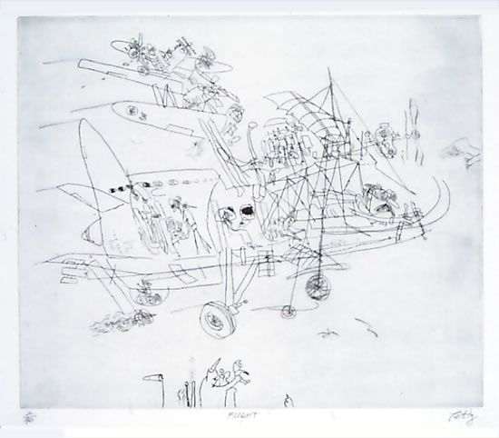 "<h4 style=""margin:0px 0px 5px 0px"">Flight</h4>Medium: Etching/Drypoint<br />Price: $500 
