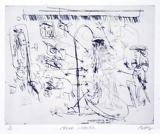 "<h4 style=""margin:0px 0px 5px 0px"">Opera Shower</h4>Medium: Drypoint<br />Price: $380 
