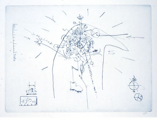 "<h4 style=""margin:0px 0px 5px 0px"">The Absurd Machine</h4>Medium: Drypoint<br />Price: $380 