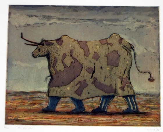"The bum steer<br /><br />Medium: Etching<br />Price: $500<br /><a href=""Artwork-Ricardo-Thebumsteer-718.htm"">View full artwork details</a>"
