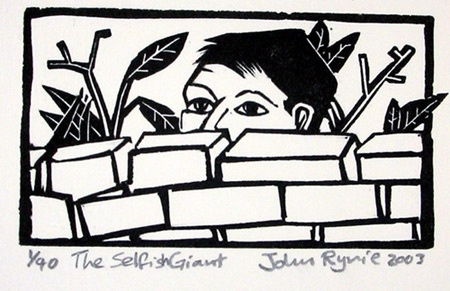 "<h4 style=""margin:0px 0px 5px 0px"">The Selfish Giant</h4>Medium: Linocut<br />Price: $180 