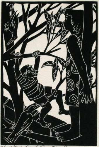 "<h4 style=""margin:0px 0px 5px 0px"">The Selfish Giant #4</h4>Medium: Linocut<br />Price: $330 