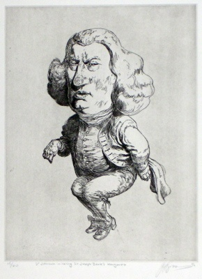 "<h4 style=""margin:0px 0px 5px 0px;"">Dr. Johnson imitating Sir Joseph Banks Kangaroo</h4>Medium: Etching<br />Price: $440 <span style=""color:#aaa"">