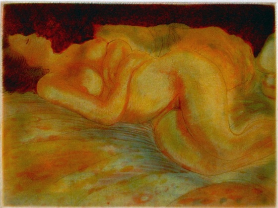 "Nude<br /><br />Medium: Etching<br />Price: $440<br /><a href=""Artwork-Spooner-Nude-491.htm"">View full artwork details</a>"