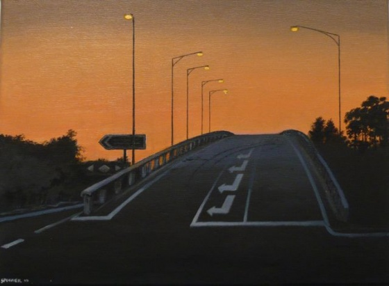 "Sunbury Overpass<br /><br />Medium: Acrylic on canvas<br />Price: $1,500<br /><a href=""Artwork-Spooner-SunburyOverpass-2563.htm"">View full artwork details</a>"