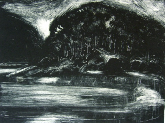 "<h4 style=""margin:0px 0px 5px 0px"">Tidal River I</h4>Medium: Monoprint & Pastel<br />Price: $935 