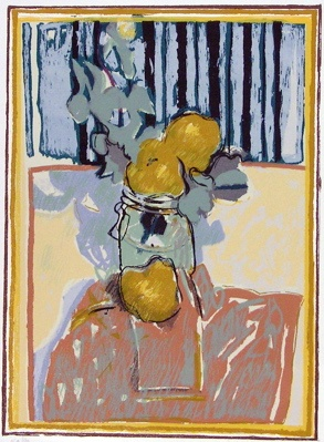 "<h4 style=""margin:0px 0px 5px 0px"">Bottle & Pears</h4>Medium: Screenprint<br />Price: $440 