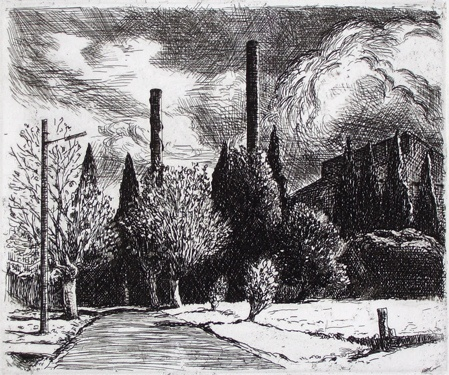 "<h4 style=""margin:0px 0px 5px 0px;"">The Mill</h4>Medium: Etching<br />Price: $1,100 <span style=""color:#aaa"">