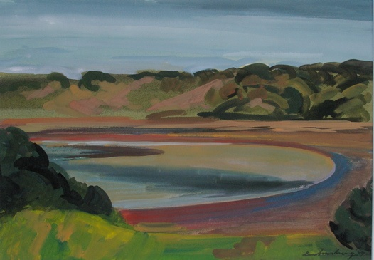 "Aireys Inlet<br /><br />Medium: Gouache on paper<br />Price: $4,000<br /><a href=""Artwork-Armstrong-AireysInlet-1845.htm"">View full artwork details</a>"