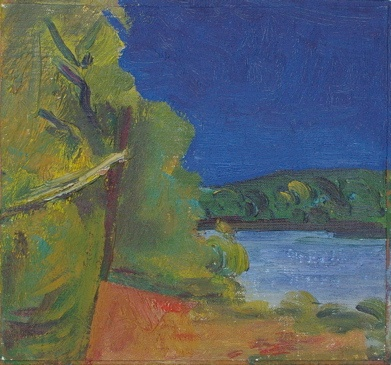 "Anglesea River<br /><br />Medium: Oil on canvas/board<br />Price: $2,500<br /><a href=""Artwork-Armstrong-AngleseaRiver-1846.htm"">View full artwork details</a>"