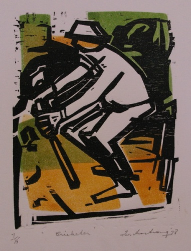 "Cricketer<br /><br />Medium: Woodcut<br />Price: Sold<br /><a href=""Artwork-Armstrong-Cricketer-1545.htm"">View full artwork details</a>"