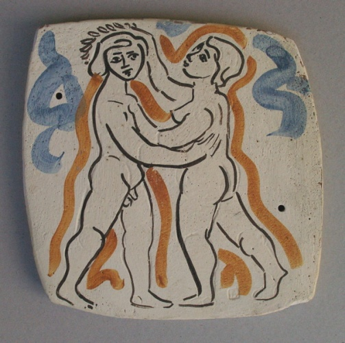 "Daphnis and Chloe II (Laurel)<br /><br />Medium: Ceramic<br />Price: $1,800<br /><a href=""Artwork-Armstrong-DaphnisandChloeIILaurel-1888.htm"">View full artwork details</a>"