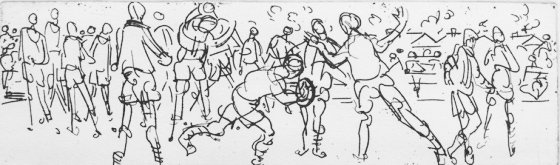 "<h4 style=""margin:0px 0px 5px 0px"">Football I</h4>Medium: Etching<br />Price: Sold 
