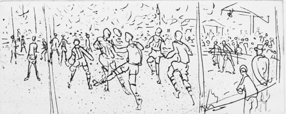 "<h4 style=""margin:0px 0px 5px 0px"">Football II</h4>Medium: Etching<br />Price: Sold 