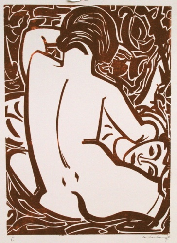 "<h4 style=""margin:0px 0px 5px 0px"">Lovers</h4>Medium: Woodcut<br />Price: Sold 