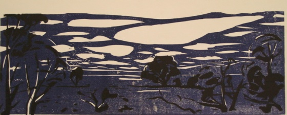 "<h4 style=""margin:0px 0px 5px 0px"">(Night landscape)</h4>Medium: Woodcut<br />Price: Sold 