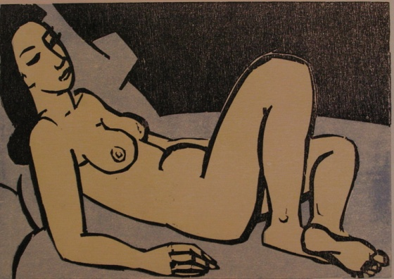 "<h4 style=""margin:0px 0px 5px 0px"">(Nude 1987)</h4>Medium: Woodcut<br />Price: Sold 