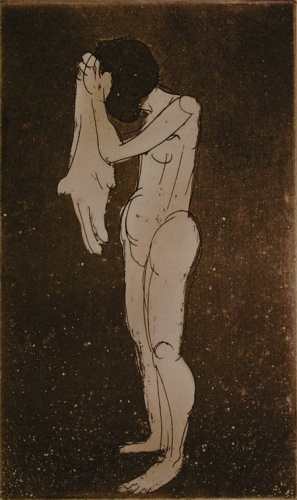 "<h4 style=""margin:0px 0px 5px 0px"">(Nude with towel)</h4>Medium: Etching<br />Price: Sold 