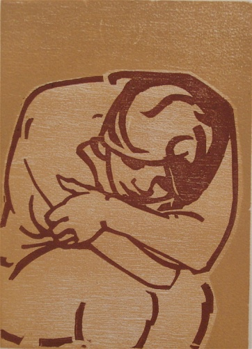 "Ochre nude<br /><br />Medium: Woodcut<br />Price: Sold<br /><a href=""Artwork-Armstrong-Ochrenude-1570.htm"">View full artwork details</a>"