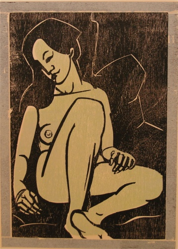 "<h4 style=""margin:0px 0px 5px 0px"">Oriental nude</h4>Medium: Woodcut<br />Price: Sold 