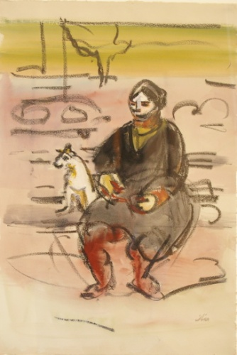"Park bench, Paris<br /><br />Medium: Watercolour &amp; charcoal on paper<br />Price: Sold<br /><a href=""Artwork-Armstrong-ParkbenchParis-1863.htm"">View full artwork details</a>"
