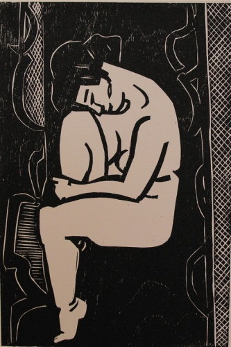 "<h4 style=""margin:0px 0px 5px 0px"">(Seated nude)</h4>Medium: Woodcut<br />Price: $800 