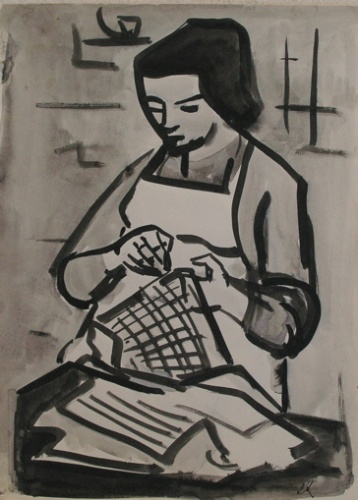 "Sewing<br /><br />Medium: Ink on paper<br />Price: $2,000<br /><a href=""Artwork-Armstrong-Sewing-1870.htm"">View full artwork details</a>"