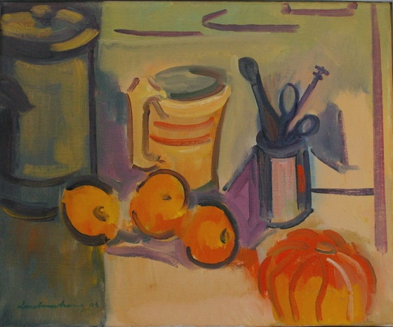 "<h4 style=""margin:0px 0px 5px 0px;"">Still-life with Pumpkin</h4>Medium: Oil on canvas<br />Price: Sold <span style=""color:#aaa"">