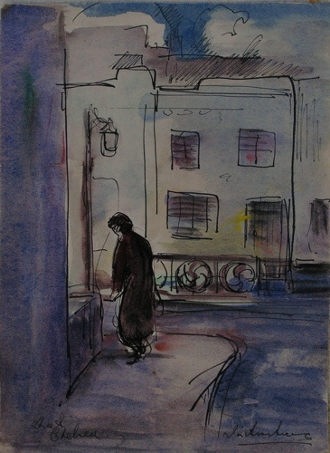 "<h4 style=""margin:0px 0px 5px 0px"">Street Chelsea</h4>Medium: Gouache &amp; ink on paper<br />Price: Sold 