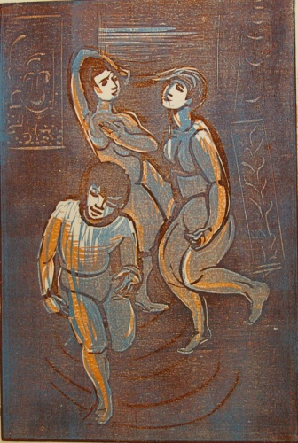 "Three graces<br /><br />Medium: Woodcut<br />Price: $750<br /><a href=""Artwork-Armstrong-Threegraces-1585.htm"">View full artwork details</a>"
